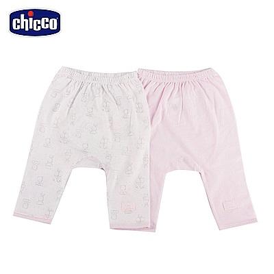 chicco-印花初生褲二入-粉(3-6個月)