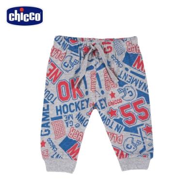 chicco-To Be BB-曲棍球滿底印花休閒束口長褲