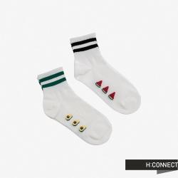 H:CONNECT 韓國品牌 配件 -運動感線條襪組