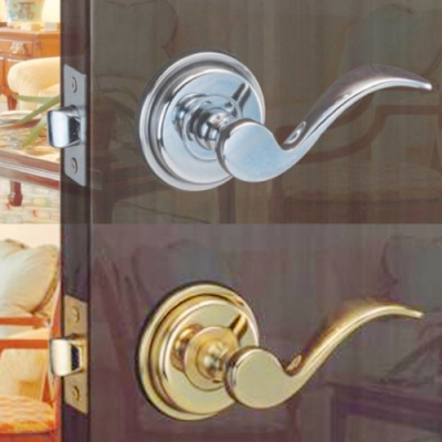 花旗門鎖 湯匙型 純銅 下座水平把手鎖 W201金色 W201-1銀色 板手鎖