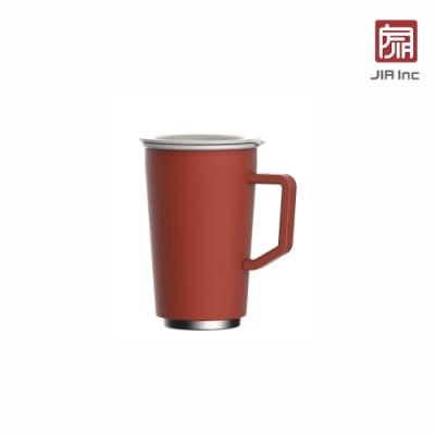 JIA Inc. 品家家品 虹彩鋼 雙層琺瑯塗層馬克杯350ml-紅