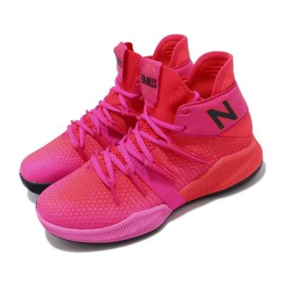 New Balance 籃球鞋 OMN1S Wide 寬楦 女鞋 紐巴倫 避震 包覆 運動 Kawhi 大童 紅 粉 GBOMN1PEW