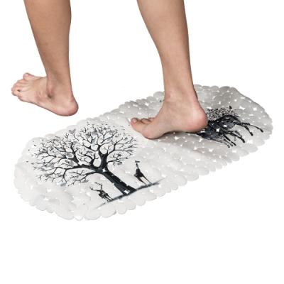 樂嫚妮 浴室吸盤防滑墊/地墊/腳踏墊/浴墊-35x69cm-麋鹿