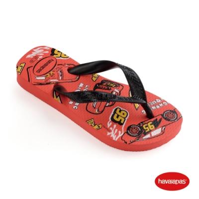 Havaianas 哈瓦仕 拖鞋 夾腳拖 人字拖 迪士尼 汽車總動員 閃電麥坤 巴西 童鞋 兒童 紅勢力 4123463-5778K Kids Cars