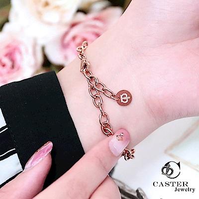 日本 凱斯特 CASTER 簡約設計搭配 玫瑰金手鍊 防抗過敏 SUS316L頂級不鏽鋼飾