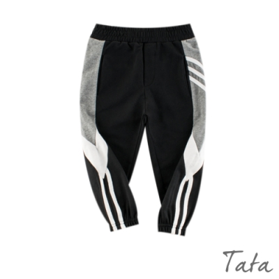 童裝 拼接雙條紋運動褲 共二色 TATA KIDS