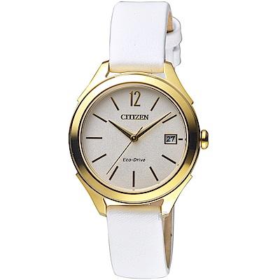 CITIZEN 星辰典雅時尚光動能腕錶(FE6148-10A)