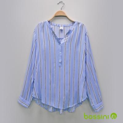 bossini女裝-圖案嫘縈襯衫01梅紫