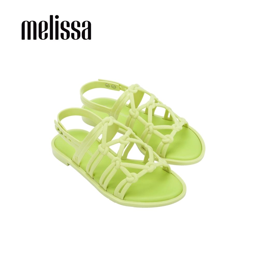Melissa x Salinas聯名 波西米亞風平底涼鞋-亮綠