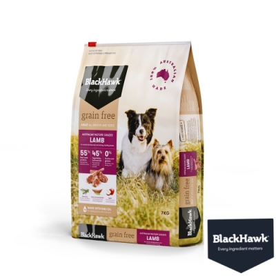 BlackHawk黑鷹 成犬優選無穀羊肉豌豆 7KG  鴯苗油 澳洲食材 狗飼料 無穀飼料