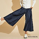 MOMA 白色車線丹寧寬褲