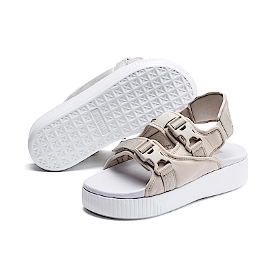 PUMA-Platform Slide YLM 19 女性涼鞋-銀灰色
