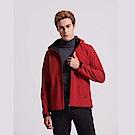 GIORDANO 男裝可拆帽修身輕量內磨毛立領防風外套-24 標誌紅