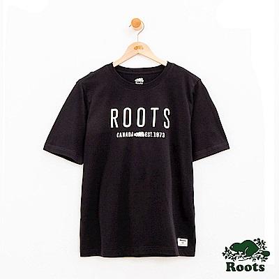 男裝Roots 休閒短袖T恤-黑