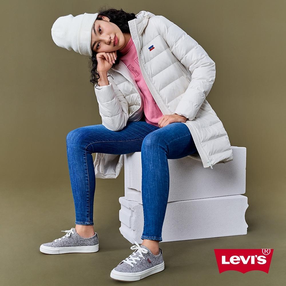 Levis 女款 721高腰緊身窄管 彈性牛仔褲 義大利Candiani 頂級丹寧 深藍水洗