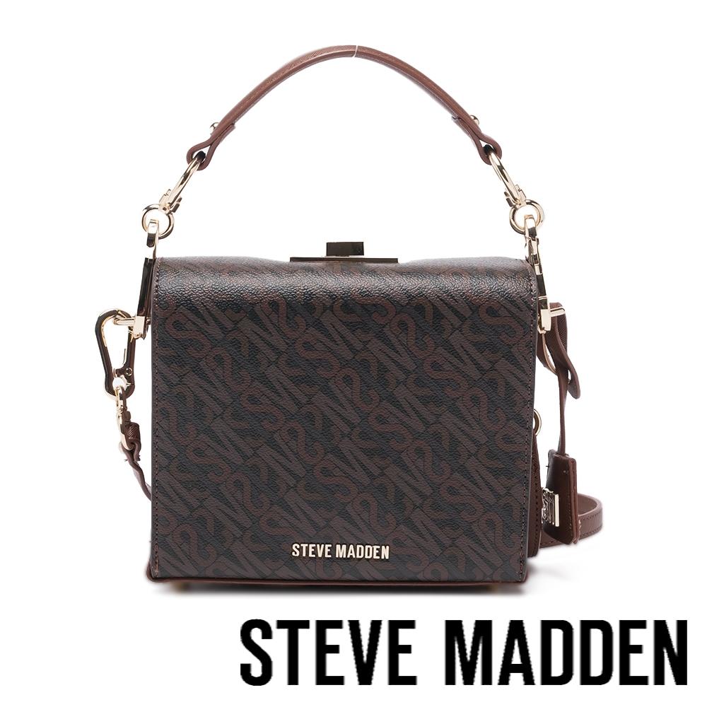 STEVE MADDEN-BKWEEN-L 壓花斜背手提信封包-咖啡色