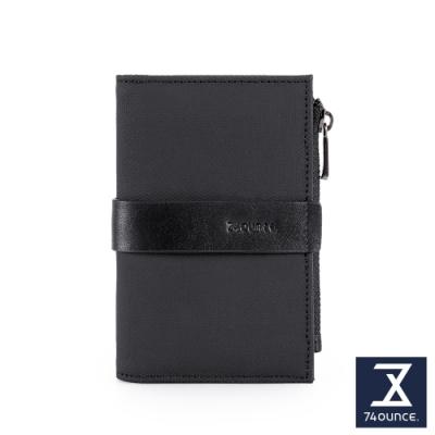 74盎司  Mix 配皮卡片零錢夾[N-585-MI-M]黑