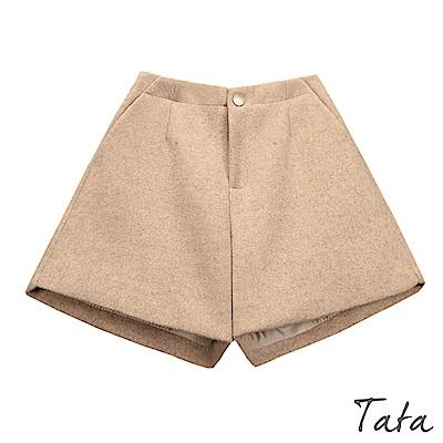 鬆緊腰毛呢短褲 共三色 TATA