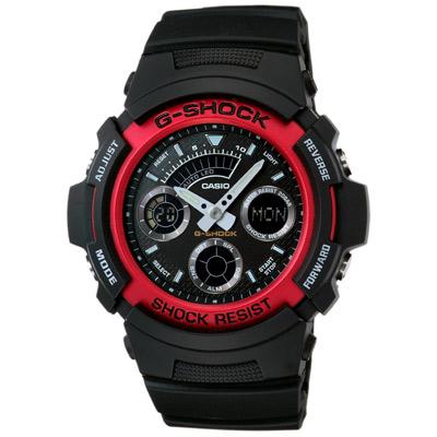G-SHOCK 極速先鋒運動雙顯錶(AW-591-4A)-炫紅/46.4mm
