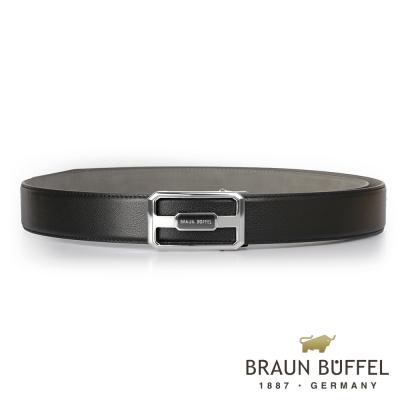 BRAUN BUFFEL - 洗鍊簡約紳士自動扣皮帶 - 銀色