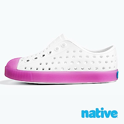 native 大童鞋 JEFFERSON 小奶油頭鞋-薰衣草紫x夜光
