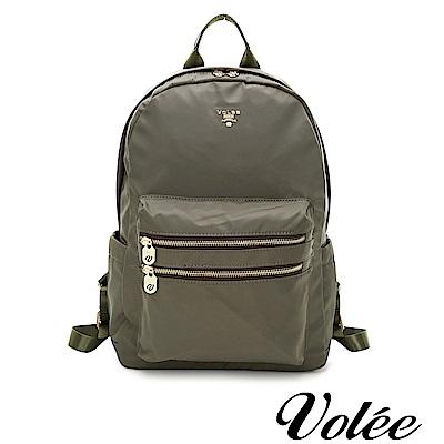 Volee好旅行系列雙拉鍊筆電後揹包-愛爾蘭綠