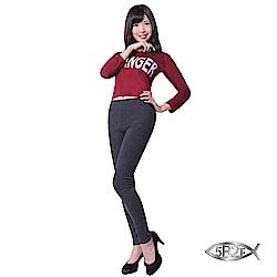 5B2F【五餅二魚】 遠紅外線3D斜波紋雕飾褲(3色)