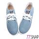 TTSNAP休閒鞋-MIT細緻水洗帆布綁帶厚底鞋 藍 product thumbnail 1