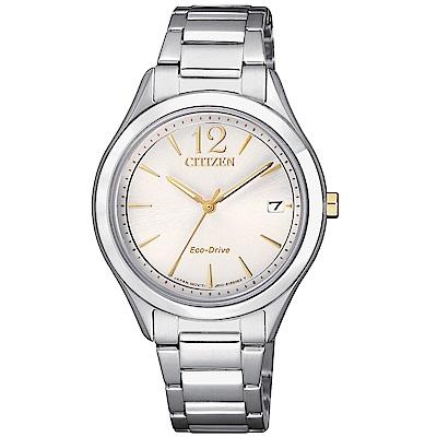 CITIZEN LADYS簡約優雅光動能腕錶/FE6124-85A