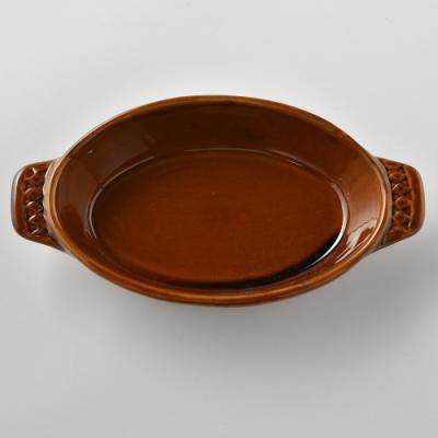 日本Meister Hand 菱紋焗烤盤 棕