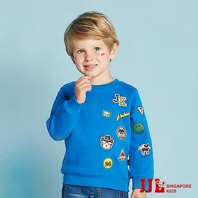 JJLKIDS 街頭時尚男孩拼貼上衣(彩藍)