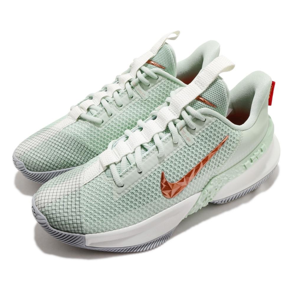 Nike 籃球鞋 Ambassador XIII 運動 男鞋 明星款 LBJ 氣墊 避震 包覆 球鞋 綠 米白 CQ9329300