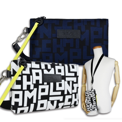 [時時樂限定] LONGCHAMP LE PLIAGE LGP系列滿版頸掛式手拿包(2色選)