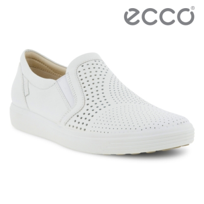 ECCO SOFT 7 W 時尚透氣休閒鞋 女鞋 白色