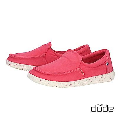HEY DUDE(女) - 輕鬆直套親膚柔棉輕量休閒鞋 - 小莓紅