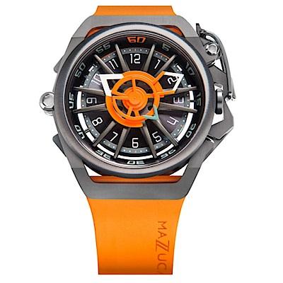 MAZZUCATO RIM高工藝義式美學翻轉機械石英腕錶/05-OR5555
