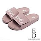 ED Ellen DeGeneres 春季logo平底拖鞋-粉色