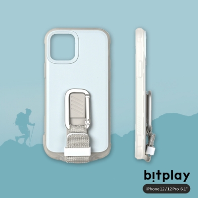 bitplay Wander Case iPhone 12/12 Pro(6.1吋)專用 獨創支架扣環掛繩軍規防摔立扣殼▲淺藍