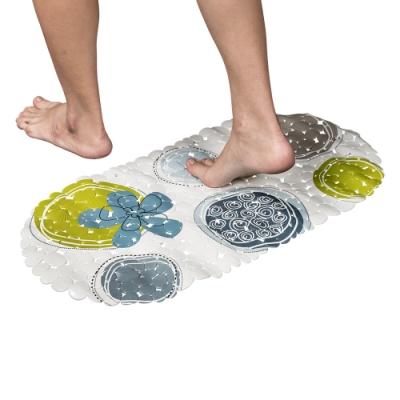 樂嫚妮 浴室吸盤防滑墊/地墊/腳踏墊/浴墊-35x69cm-綠圈