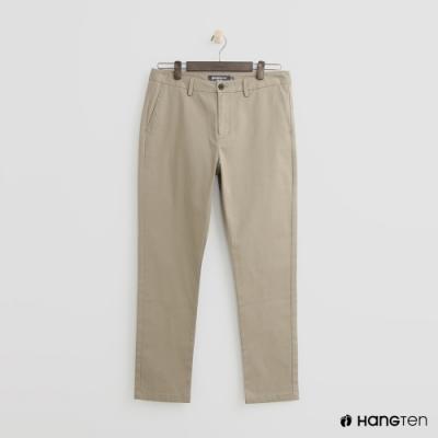 Hang Ten - 男裝 - 簡約純色休閒西裝長褲 - 卡其