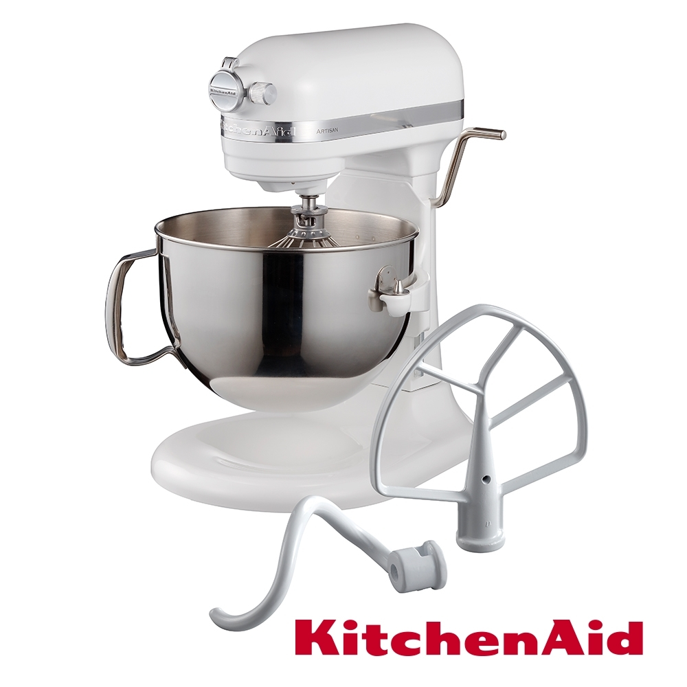 KitchenAid 桌上型攪拌機(升降型)牛奶白