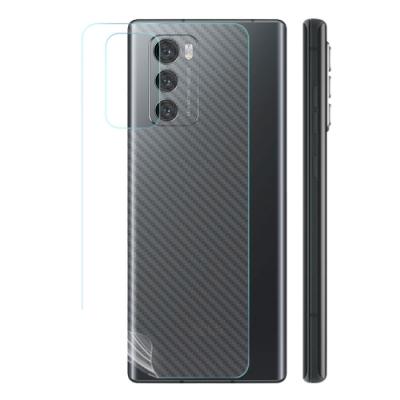 o-one大螢膜PRO LG Wing 5G  滿版全膠手機背面保護貼 手機保護貼-CARBON款