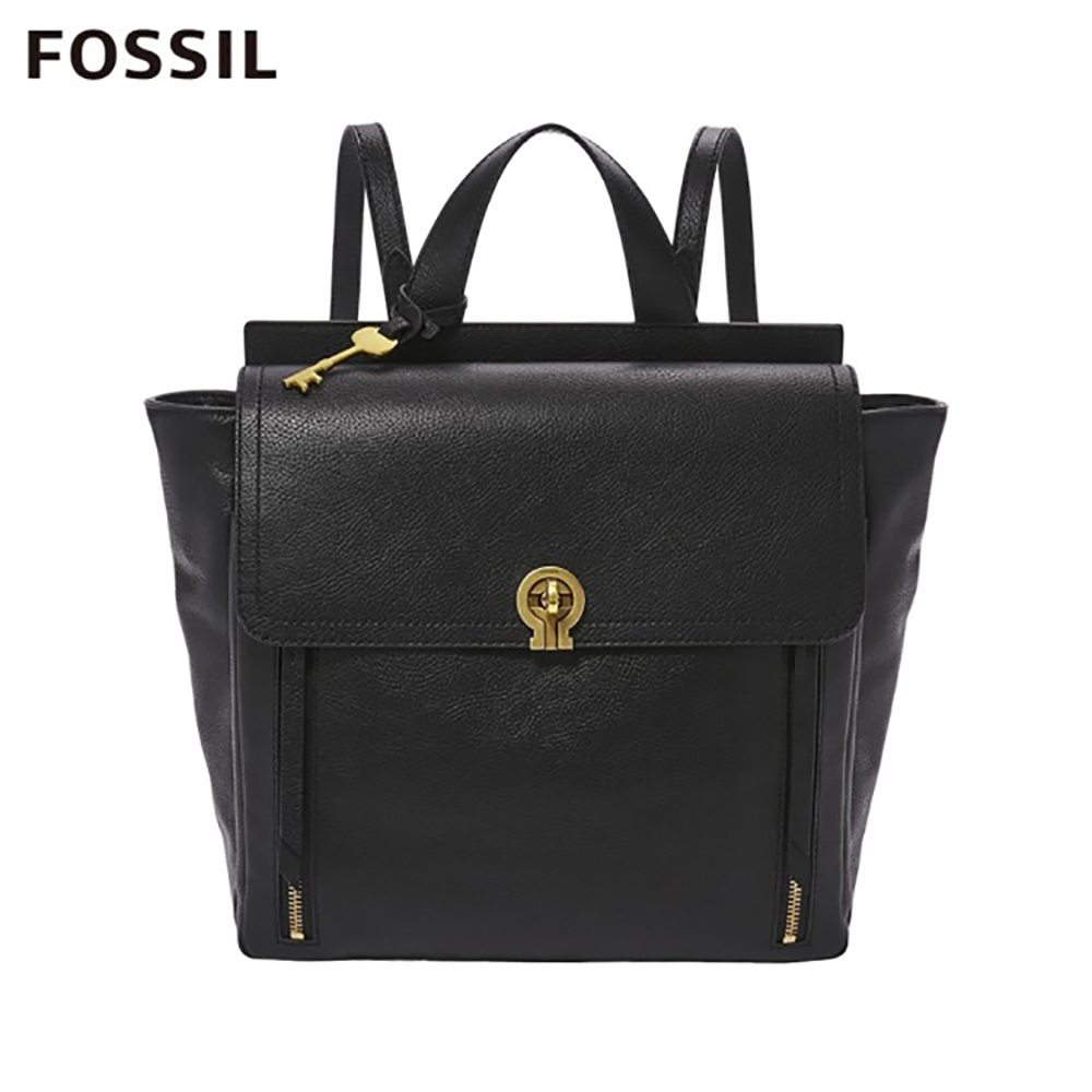FOSSIL AMELIA 真皮時尚後背包-黑色 ZB7788001 product image 1