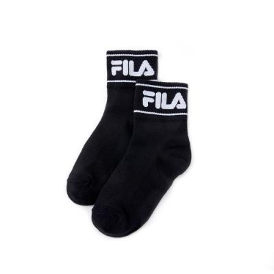 FILA 基本款薄底短襪-黑 SCU-5004-BK