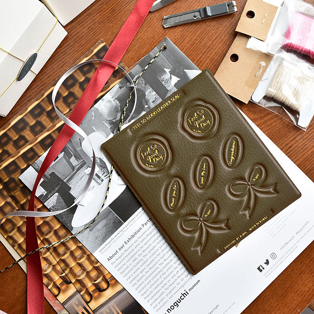 PLEPIC 好經典皮革蠟封章封口貼紙組-法式棕