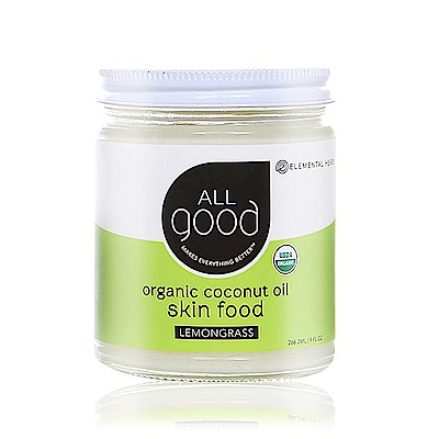 【ALLgood】冷壓有機嫩膚潤澤椰子油 - 檸檬草 222mL