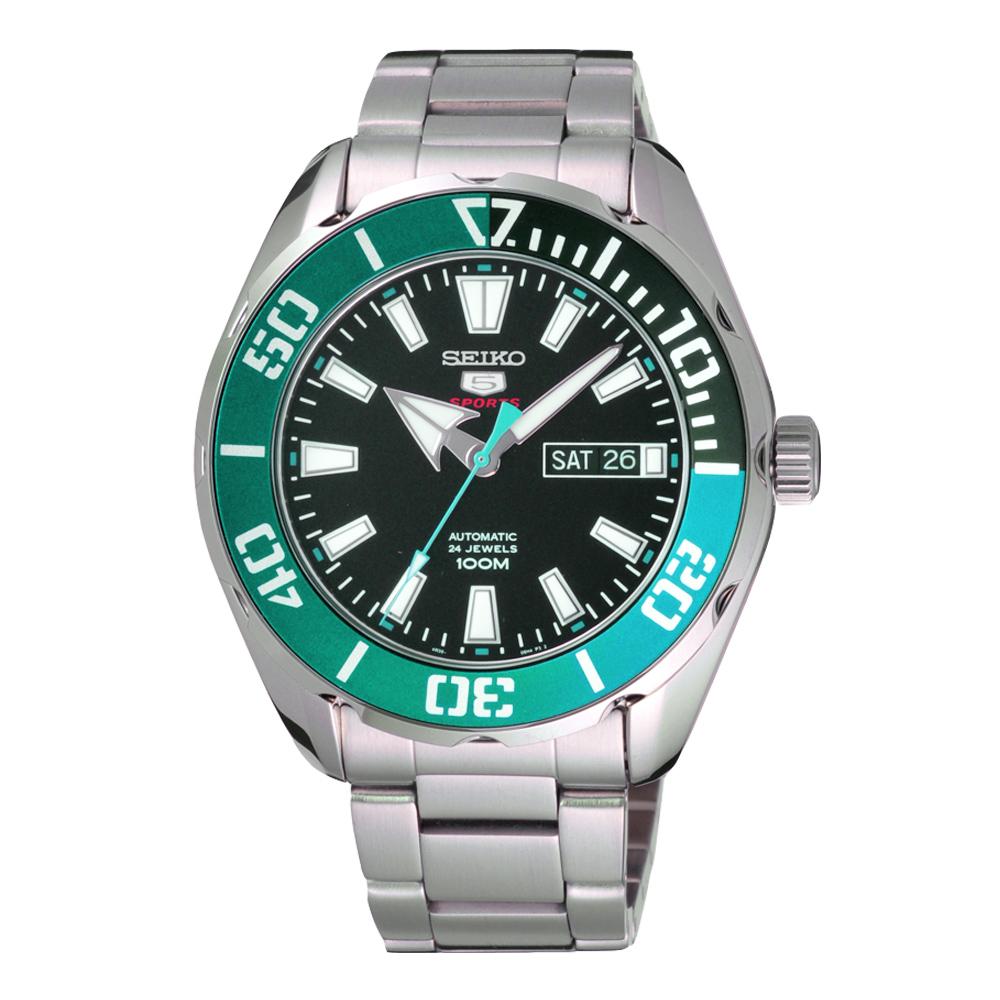 SEIKO 神鬼無懼機械腕錶-綠-SRPC53K1-45mm
