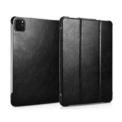 ICARER 復古系列 iPad Pro 12.9 (2020/2021) 三折站立 手工真皮皮套