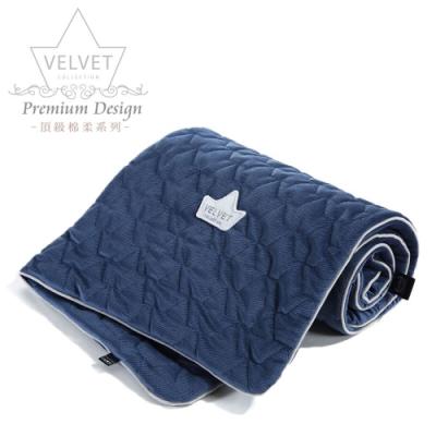 La Millou Velvet頂級棉柔系列-標準款暖膚毯80x100cm(舒柔藏青)