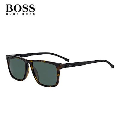 HUGO BOSS BOSS 0921/S-時尚方框太陽眼鏡-玳瑁